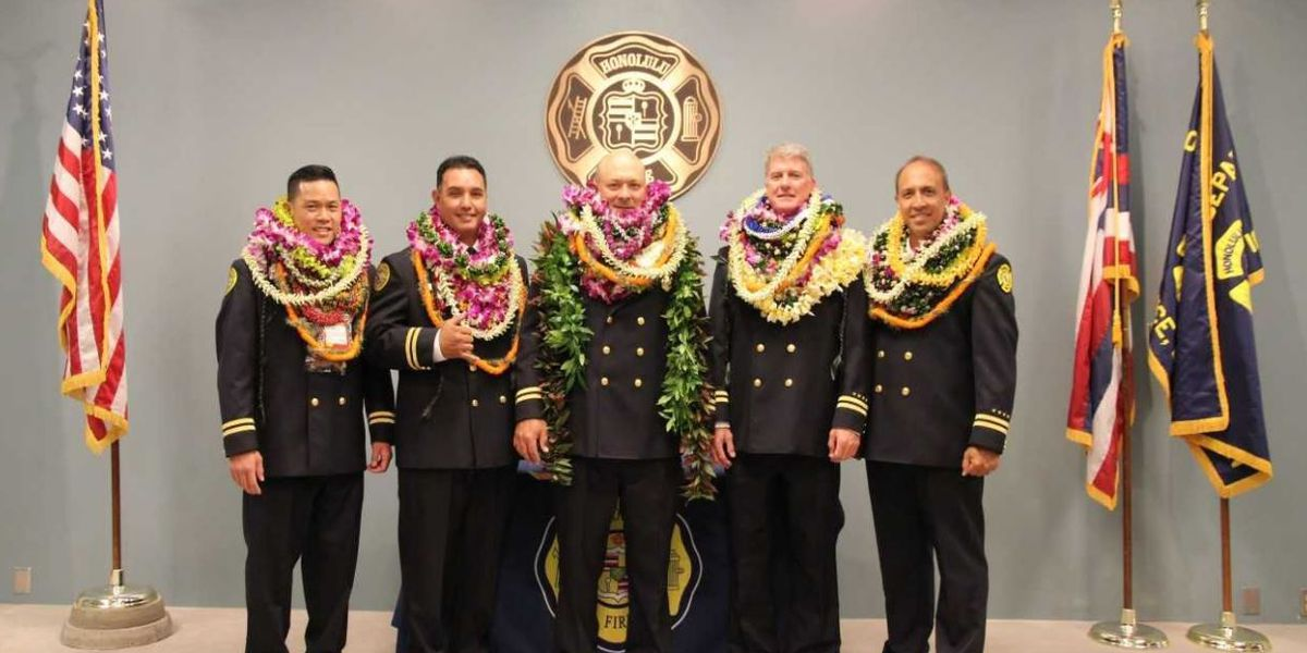5 long-time Honolulu firefighters promoted to Battalion Chiefs