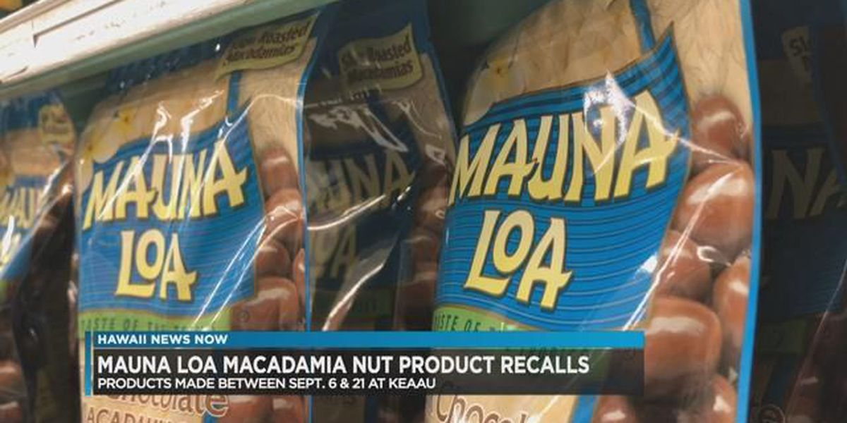 Mauna Loa macadamia nut products recalled over potential E. coli concerns