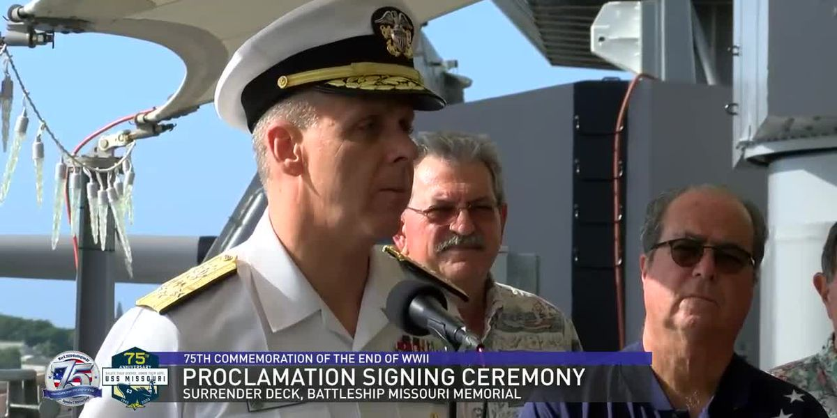 75th Commemoration of the End of WWII: Proclamation Signing Ceremony