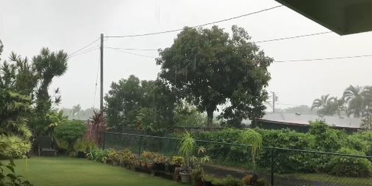 Heavy showers could continue for Kauai after day of drenching rains