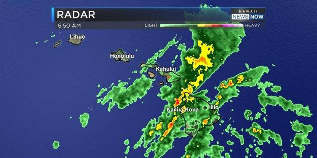 Forecast: Maui, Big Island get soaked by heavy showers
