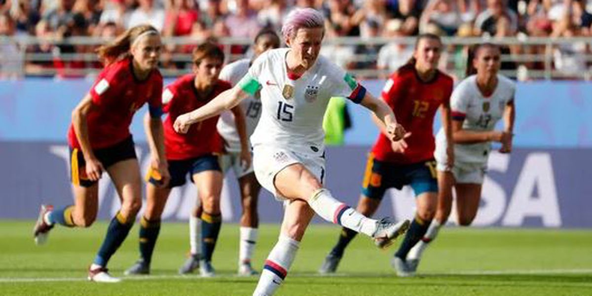 USA takes down Spain 2-1 in 2019 Women's World Cup