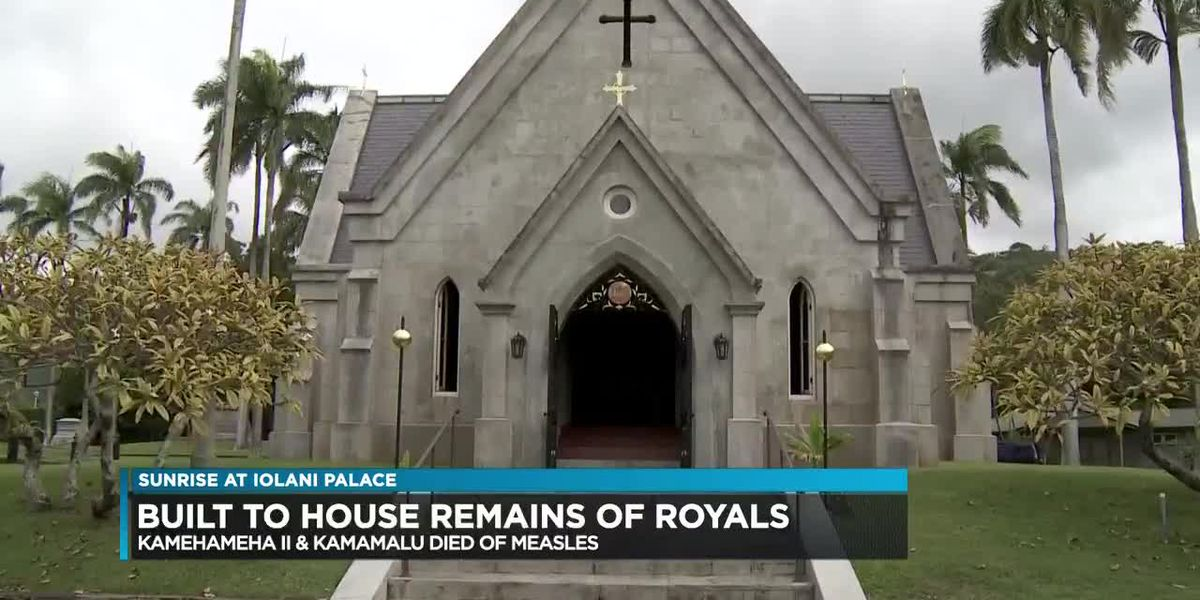 Hawaiian royalty remains were once housed in a tomb on the grounds of Iolani Palace