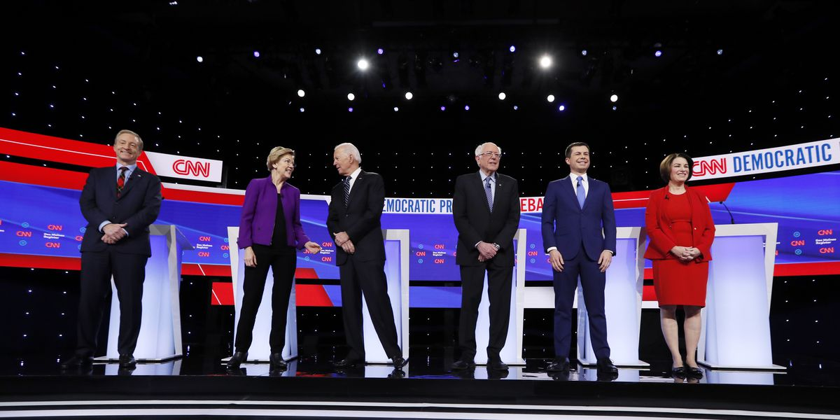 Democratic debate ends with talk of hope after Warren, Sanders spar over claim he said woman can't win