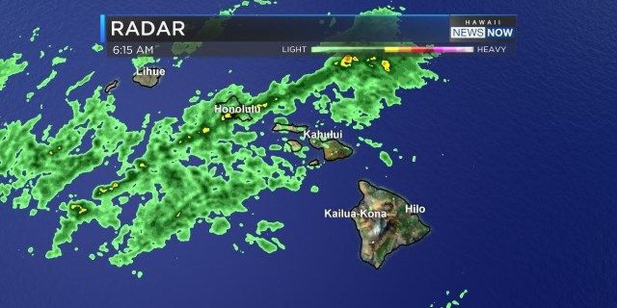 Forecast: Showers, some heavy, developing over the state