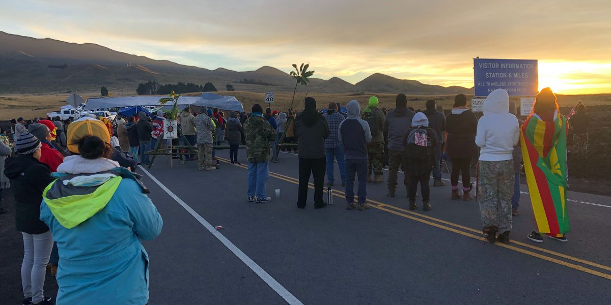 Mauna Kea under state of emergency as TMT protest stretches into 4th day