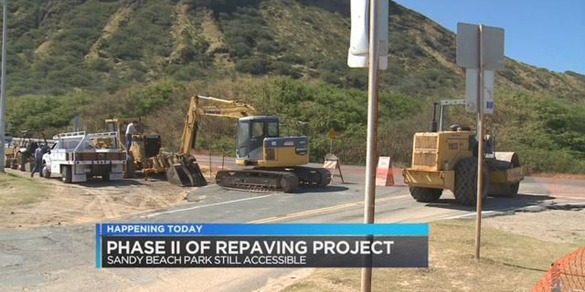 Portion of Sandy Beach parking lot closed for repaving project