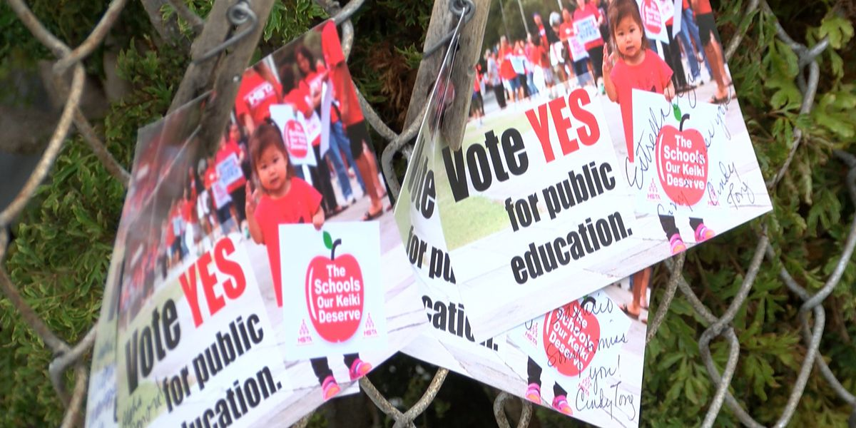 Teachers go door-to-door to urge voters to support surcharge to fund education