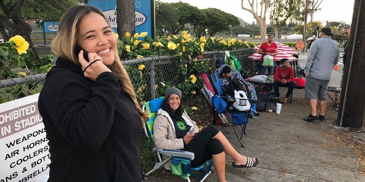 Eager fans line up more than 24 hours before Bruno Mars concert tickets go on sale