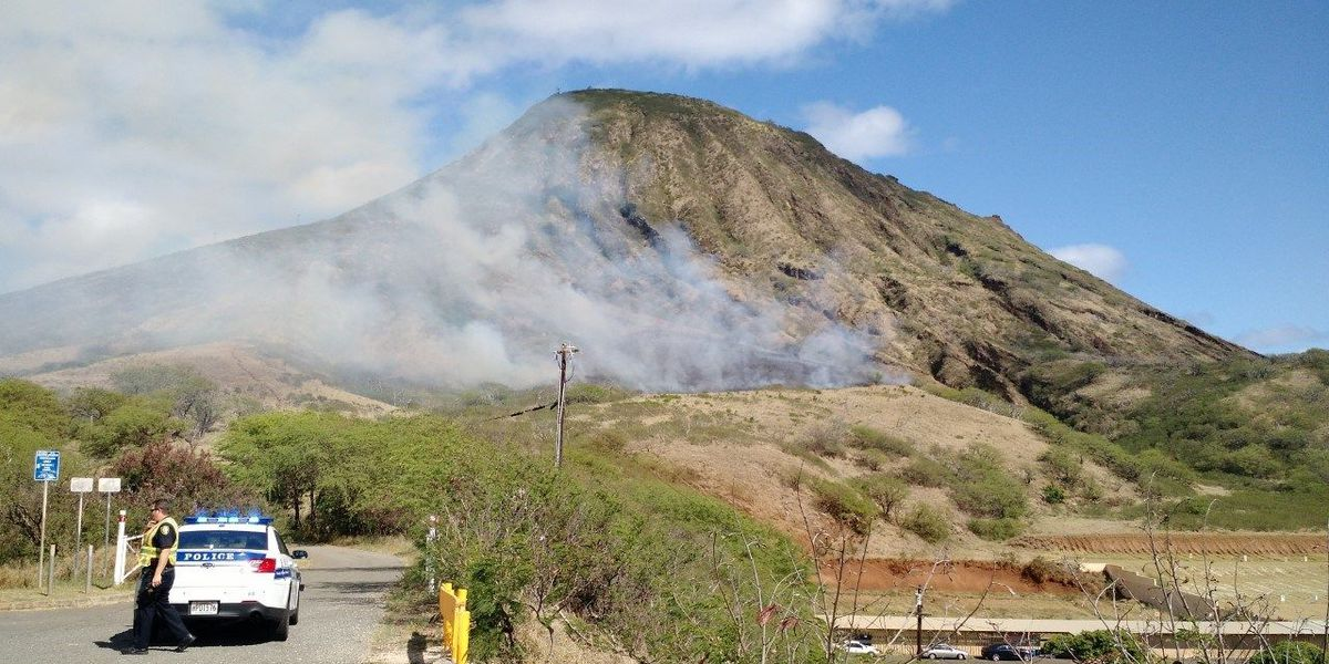 Two brush fires prompt road, hiking trail closures