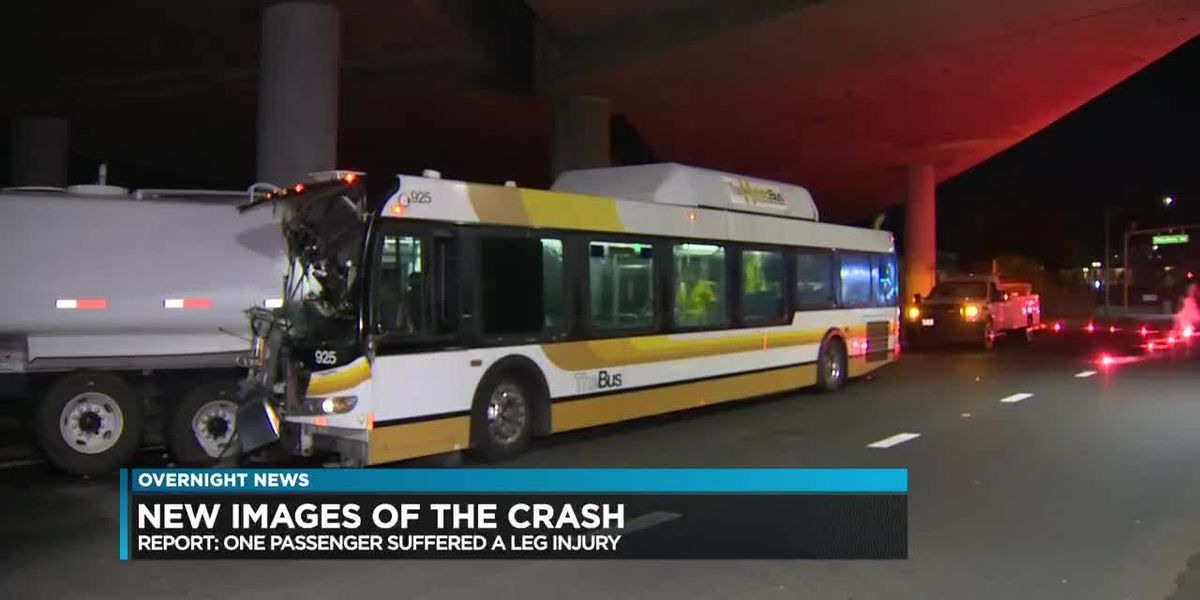 City bus collides with water tanker in Kalihi-Palama, injuring 10