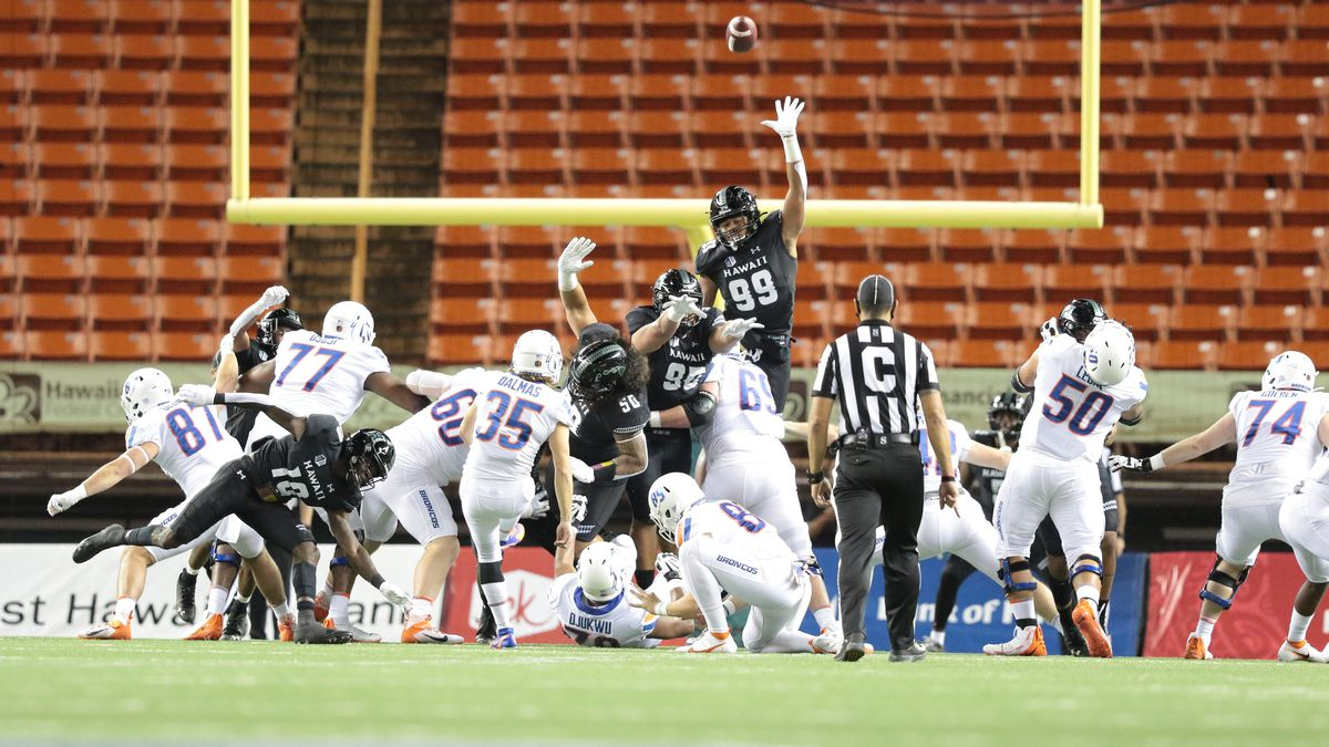 UH's late game heroics fall short against Boise State, 40-32