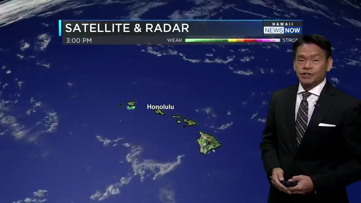 Increasing chance of showers to start the work week