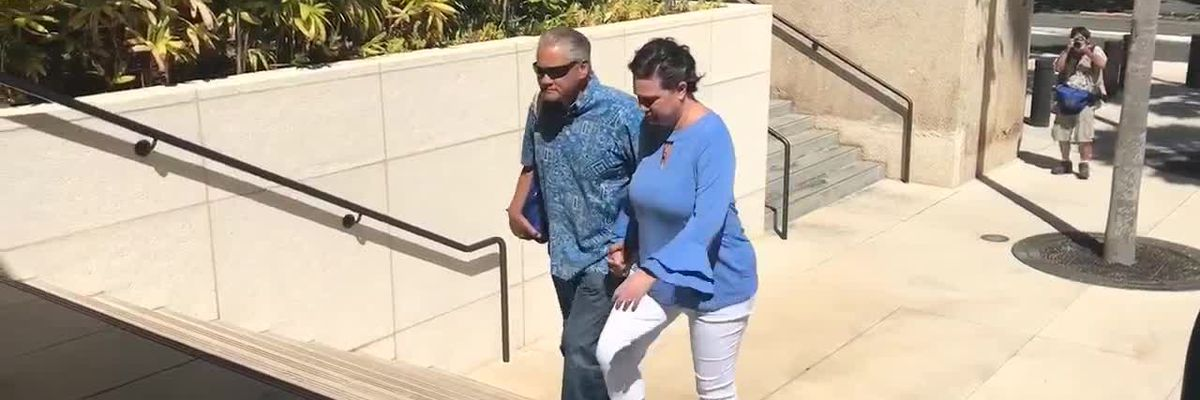 Day after massive new drug indictment, Kealohas walk into federal court