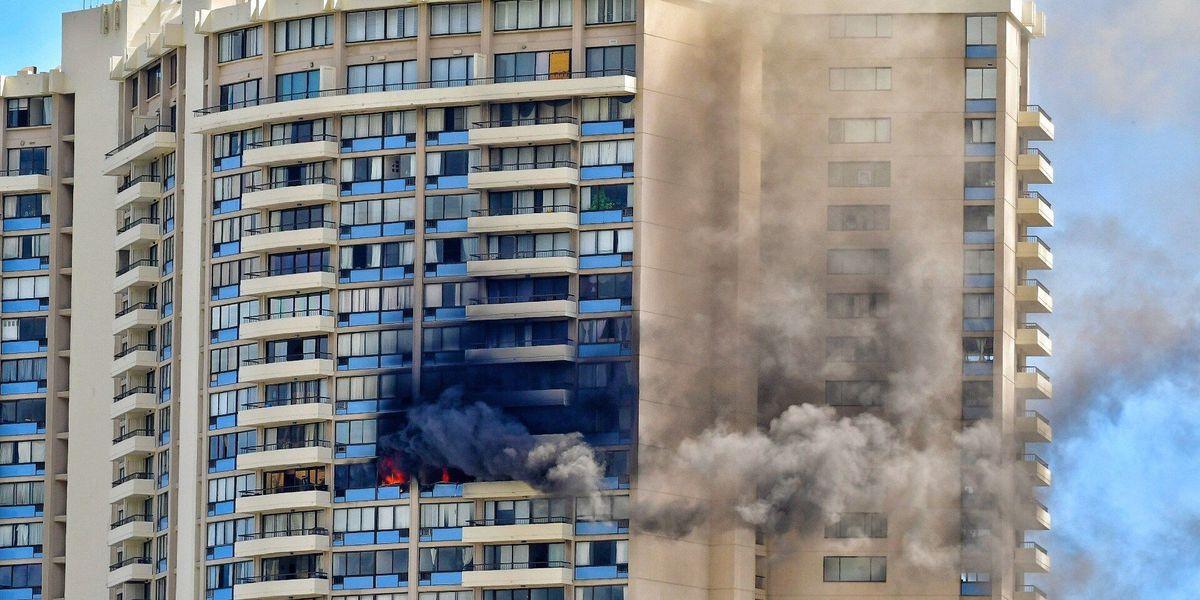 PHOTOS: Firefighters battle Marco Polo blaze