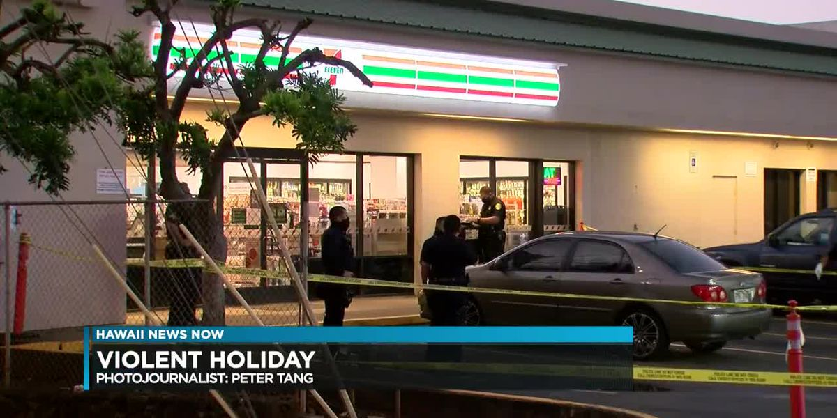 A shooting, two stabbings and an armed robbery: Thanksgiving weekend off to violent start on Oahu