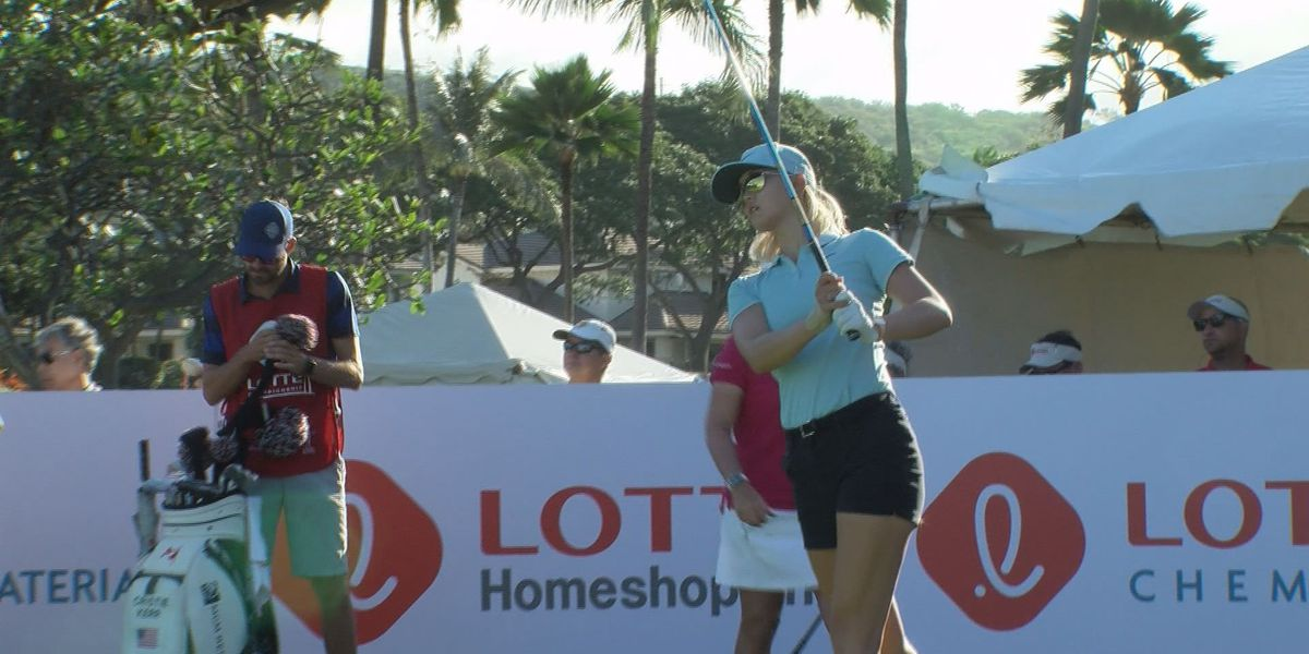 Wie at par after blustery opening day at Lotte Championship
