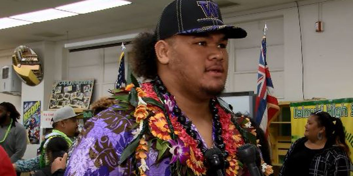Kaimuki's Paama calls signing with Washington 'a blessing'