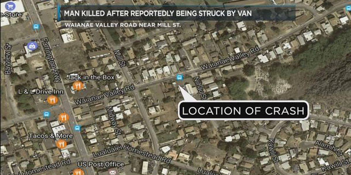 Bicyclist dies after being struck by van in Waianae