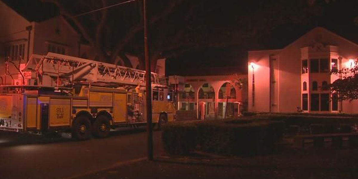 HFD responds to fire at St. Andrew's Priory classroom
