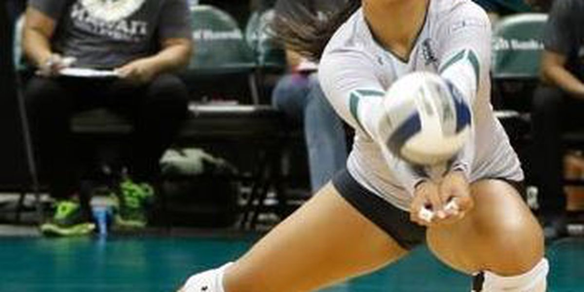 Texas takes down Wahine volleyball in spring match, 3-2