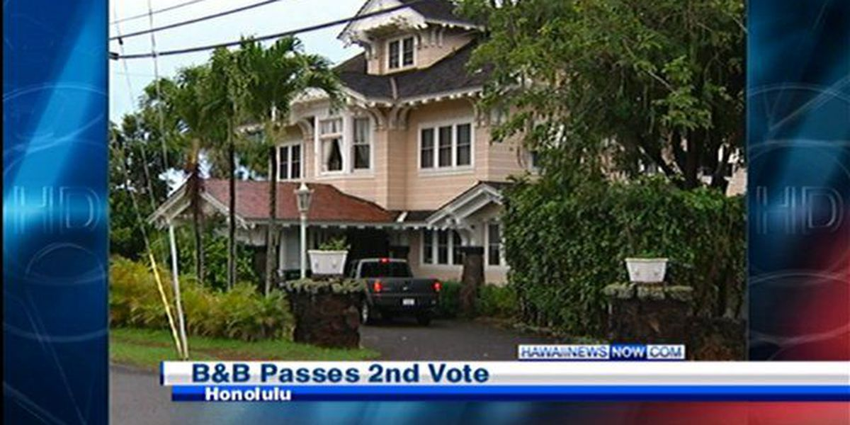 Honolulu moves closer to resolution on bed and breakfast rentals