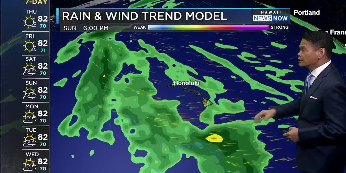 Breezy trade winds on the way