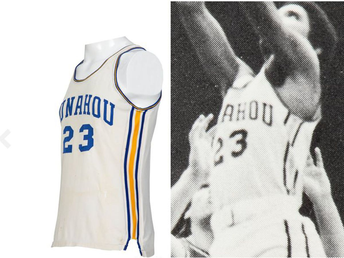 Obama's #23 Punahou basketball jersey soon to be up for auction