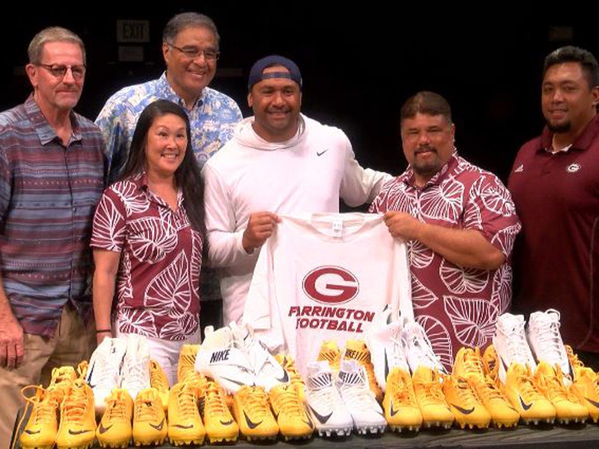 Pisa Tinoisamoa joins Los Angeles Rams at Farrington High School for special donation