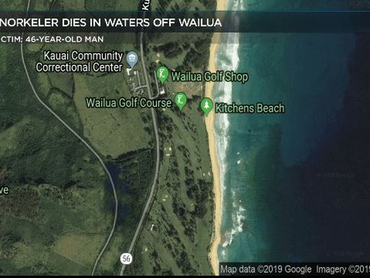 Man dies while snorkeling in waters off Wailua