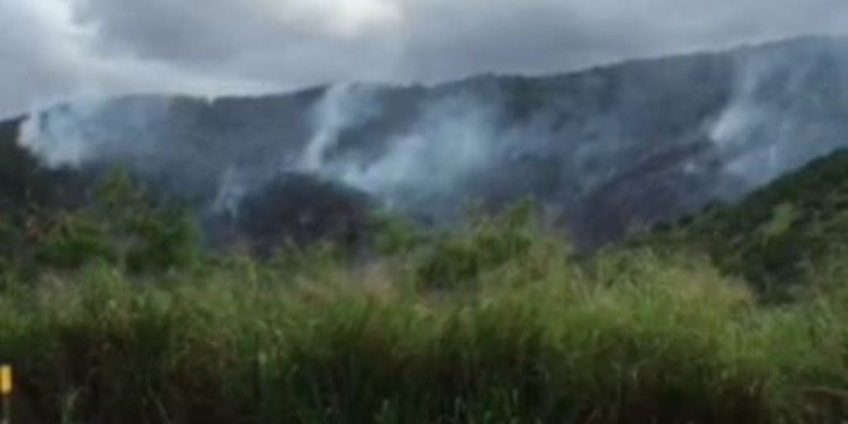 Brush fire still smoldering in Central Oahu