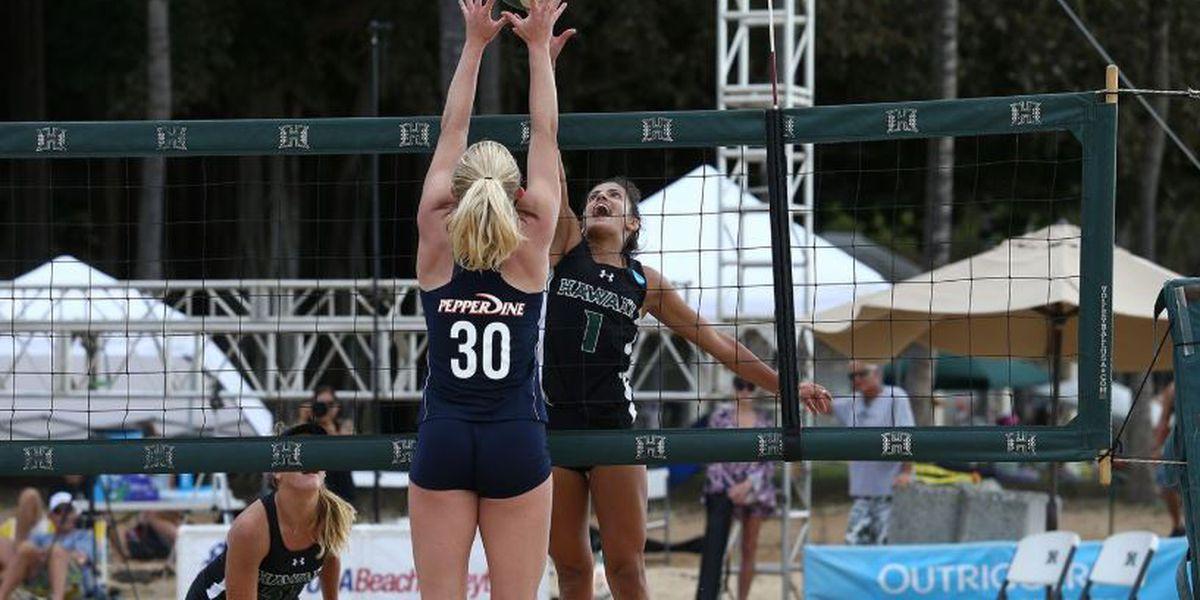 Wahine split matches to start 2019 beach volleyball season