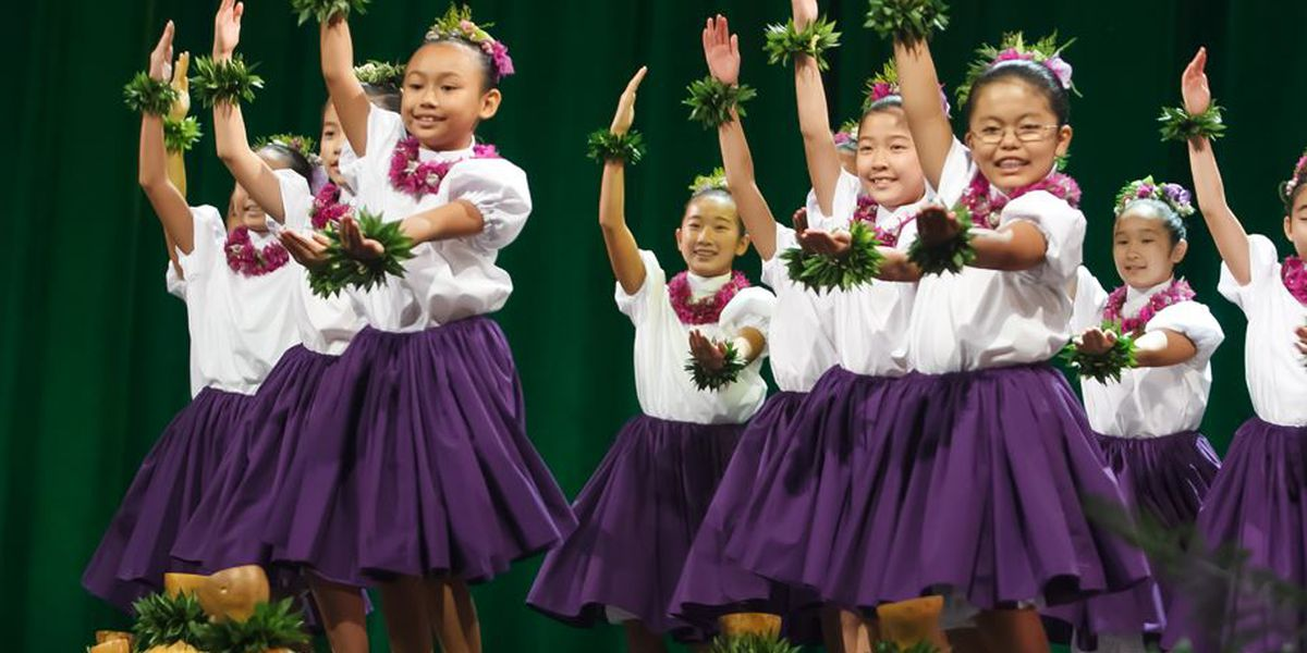 Young hula dancers perform in 44th annual Keiki Hula competition