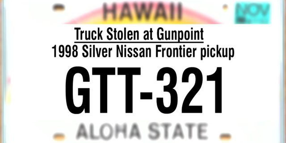 Big Island police seek suspects who stole pickup truck at gunpoint