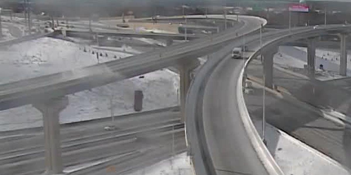 VIDEO: Vehicle skids off interstate ramp near Milwaukee, falls 70 feet to ground