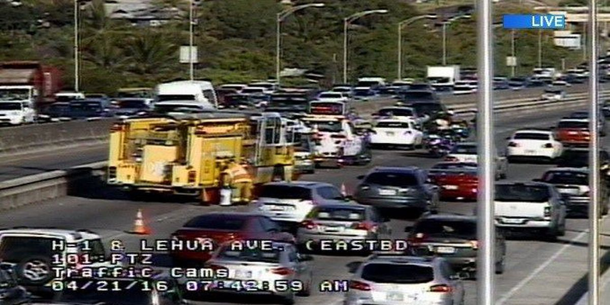 All westbound lanes of H-1 in Pearl City reopened following crashes