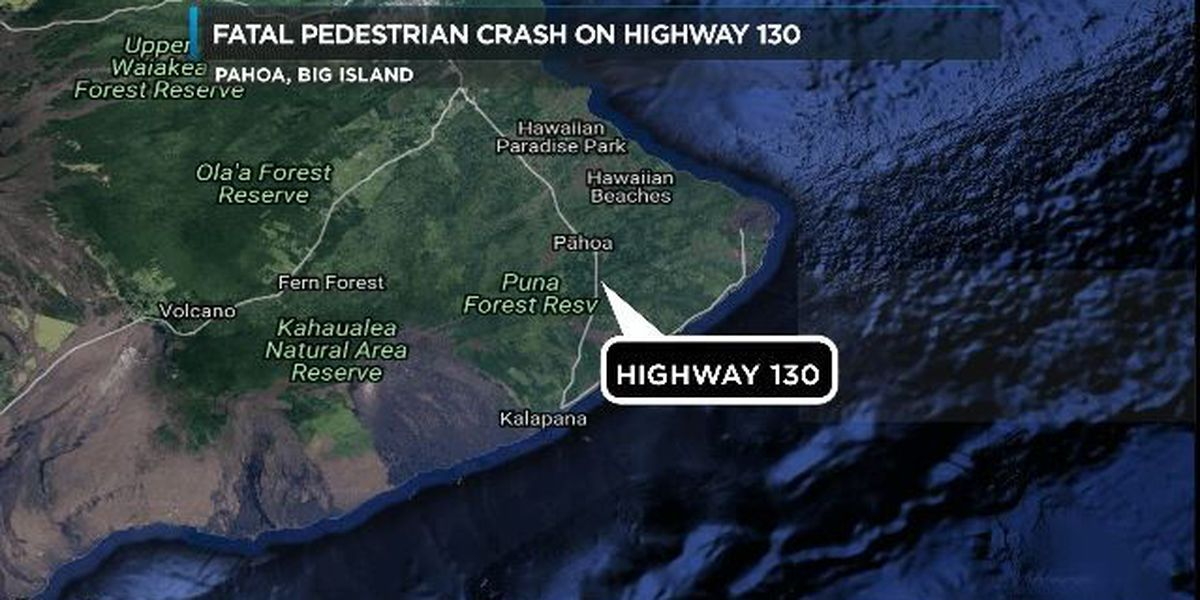 Woman killed after being struck by car in Pahoa