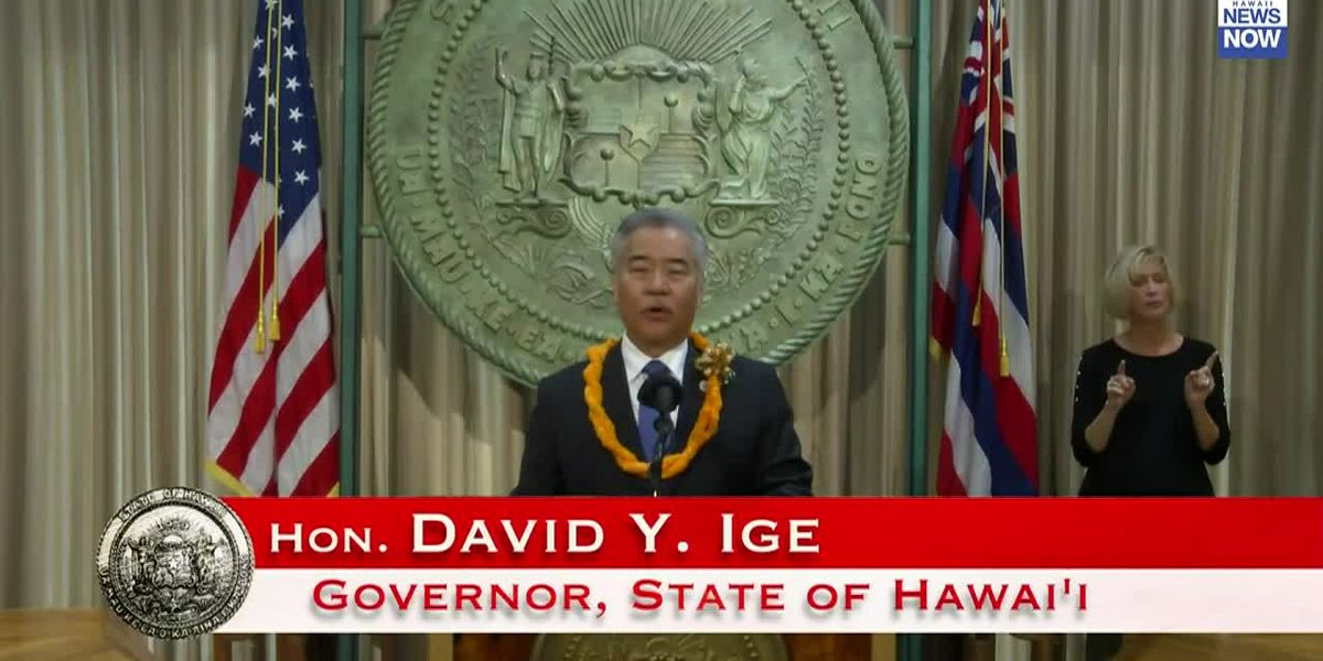 Governor Ige says state is committed to building at least 3,000 more homes