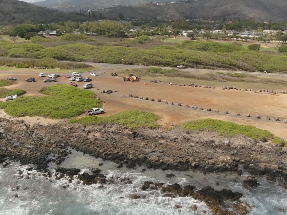Boulders, barriers in place on Kaiwi Coast to curb illegal off-roading
