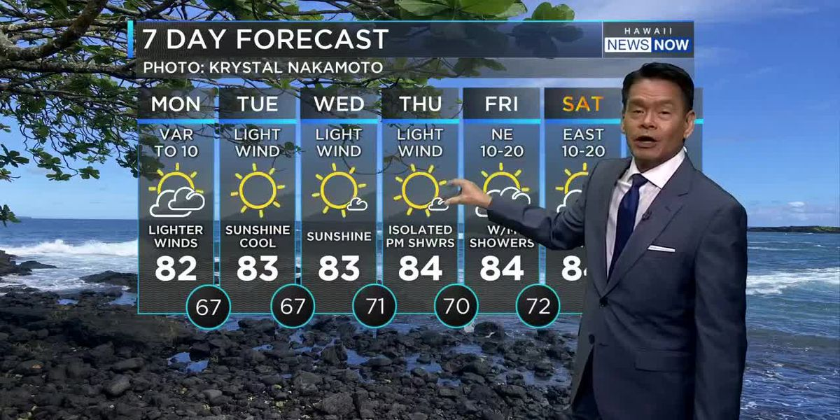 Drier conditions, lighter winds ahead