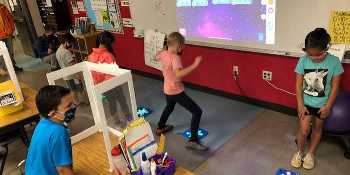 At Solomon Elementary, students jump and stomp their way to learning computer science
