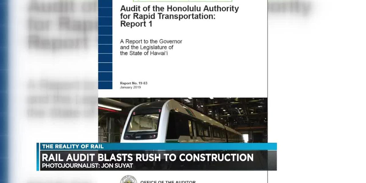Blistering audit blames political rush to construction for ballooning rail costs, delays