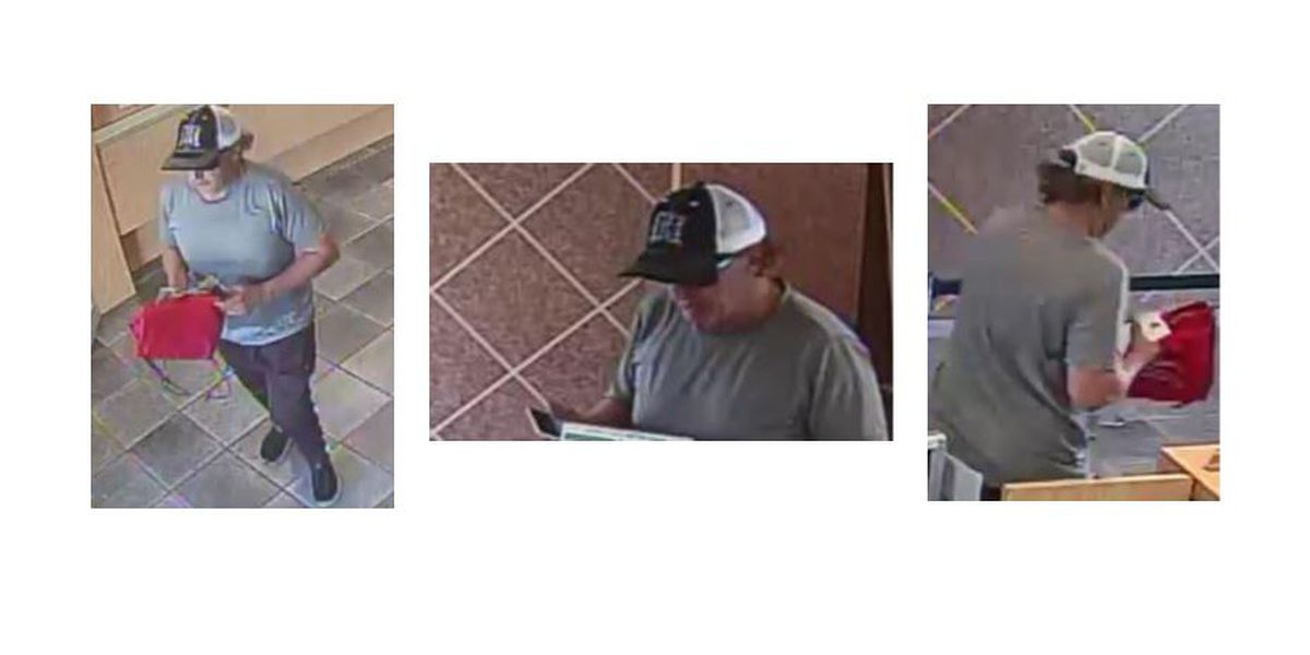 Police release images of wanted bank robbery suspect