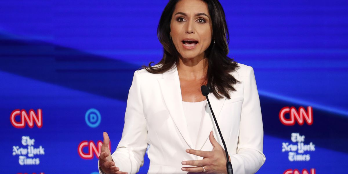 Gabbard takes stage in 5th Democratic presidential debate