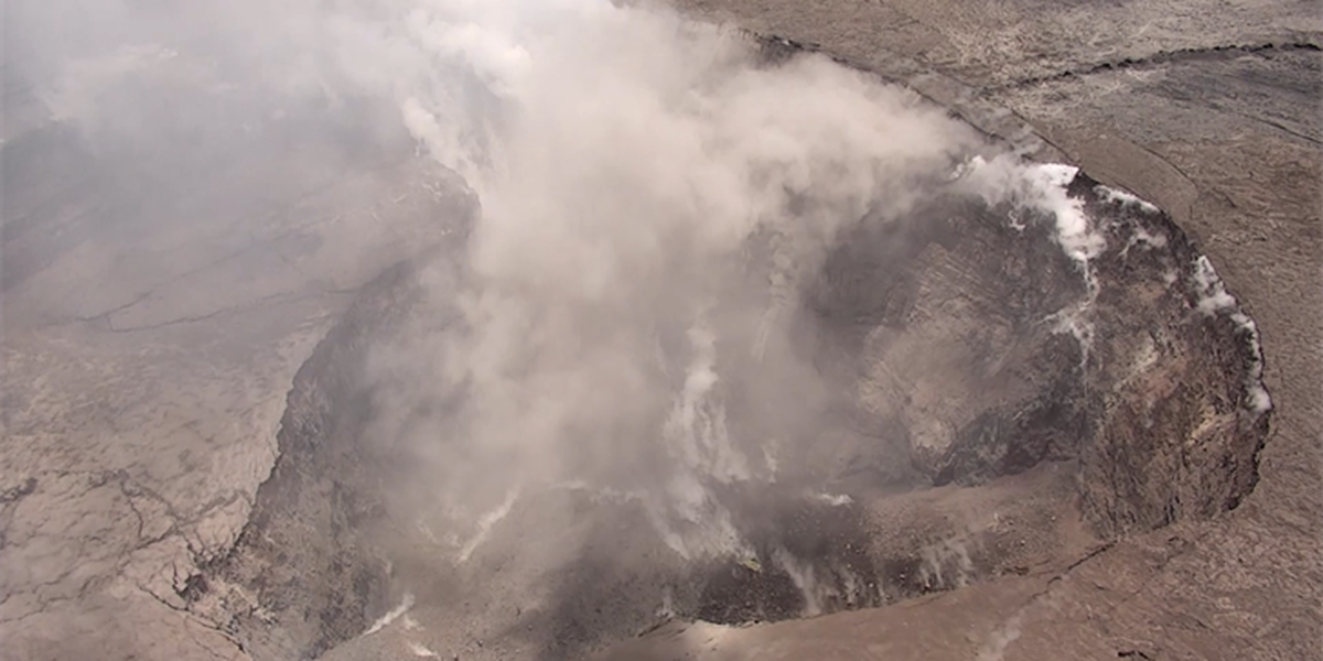 Explosive eruptions are changing the face of Kilauea's summit crater