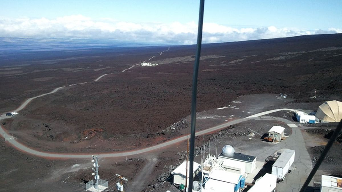 Global carbon dioxide levels measured atop Mauna Loa set a new monthly record