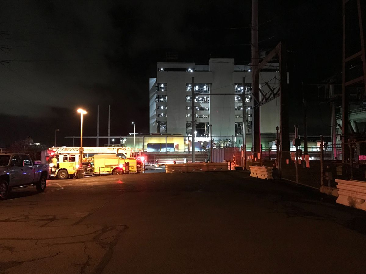 Officials investigating early-morning blaze at Waiau Power Plant