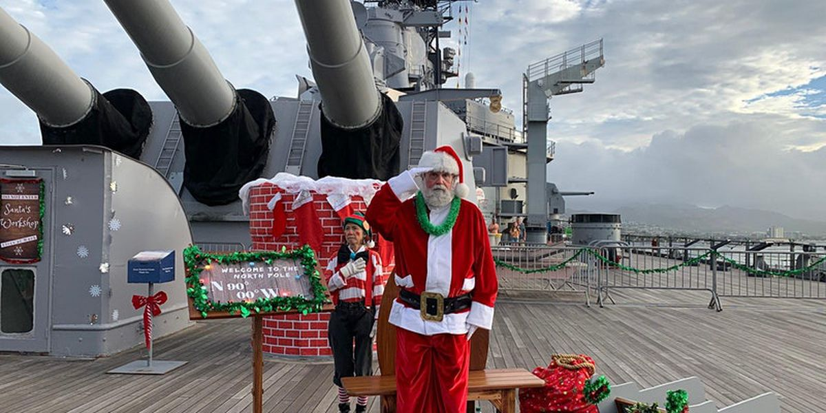 Throughout December, families can Zoom with Santa aboard the 'Mighty Mo'