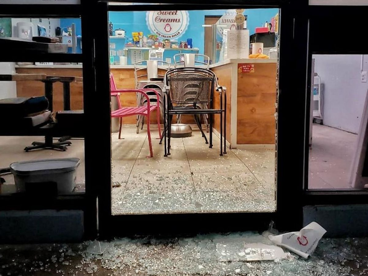 A popular ice cream shop is targeted by crooks twice in two weeks
