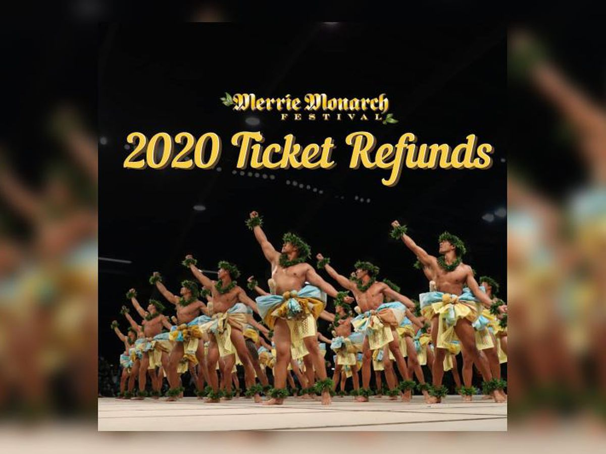 Merrie Monarch ticket refunds are available, though some opt to donate the money